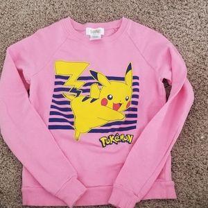Pink pikachu pokemon sweatshirt
